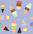 ice cream seamless pattern background vector image vector image