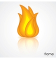 icon of flame vector image vector image