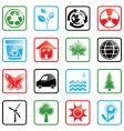icon set environment vector image vector image