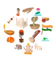 india icons cartoon vector image vector image