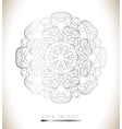 Invitation card with lace silver vector image vector image