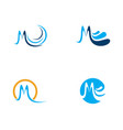 m letter water wave icon vector image