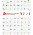 Mega set of light bulb logos vector image vector image