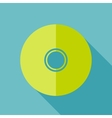 Modern flat design concept icon CD or DVD computer vector image