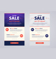 newsletter design template for sale vector image vector image