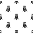 Owl icon in black style isolated on white vector image