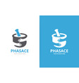 pharmacy and hands logo combination vector image