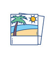 picture beach tropical vacation travel vector image
