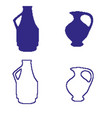 pixel art jug decoration isolated vector image vector image