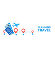planning travel horizontal banner holiday route vector image vector image