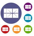 postal parcel icons set vector image vector image