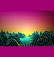 retro futuristic background 80s style vector image vector image