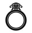 rugold ring icon simple style vector image vector image
