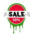 sale 50 watermelon white background image vector image vector image