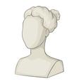Sculpture head of woman icon cartoon style vector image vector image