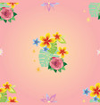 seamless pattern with decorative plants 2 vector image vector image