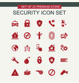 security icons set red vector image