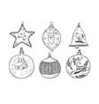 set christmas balls vector image vector image