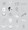 Set with Grayscale Business Icons vector image vector image
