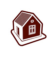Simple village mansion icon abstract house Country vector image vector image