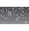 snow and snowflakes background vector image