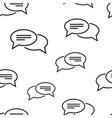 speech bubble seamless pattern vector image vector image