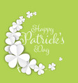 st patricks day greeting card template vector image vector image