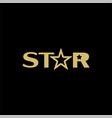 star graphic design template isolated vector image vector image