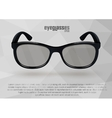 Strict eyeglasses in black and white vector image vector image