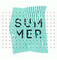 summer typographic vintage grunge poster vector image vector image