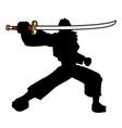 sword samurai vector image