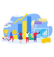 teamwork business success concept vector image vector image