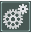 The pair of gears vector image vector image