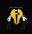 two man are sharing the idea vector image vector image
