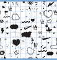 universal trend hand drawing seamless pattern vector image vector image