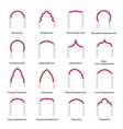 various arch types flat set vector image