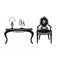 Vintage Classic Style furniture set vector image vector image