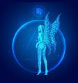 virgo zodiac sign icons vector image