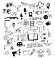 Visual Media Doodle vector image vector image