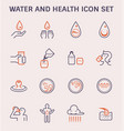 water health icon vector image vector image