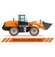 wheel loader detailed heavy vector image vector image
