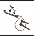 white colored bagpipe vector image