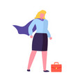 woman in super hero coat red briefcase isolated vector image