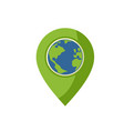 world planet location icon vector image