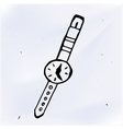 wrist watch cartoon doodle vector image vector image