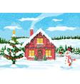 year winter landscape vector image