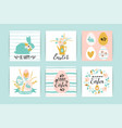 happy easter templates with lettering vector image