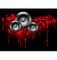 abstract musical graffiti vector image