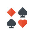 set of playing cards symbols vector image