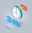 24 hours service and support online vector image vector image